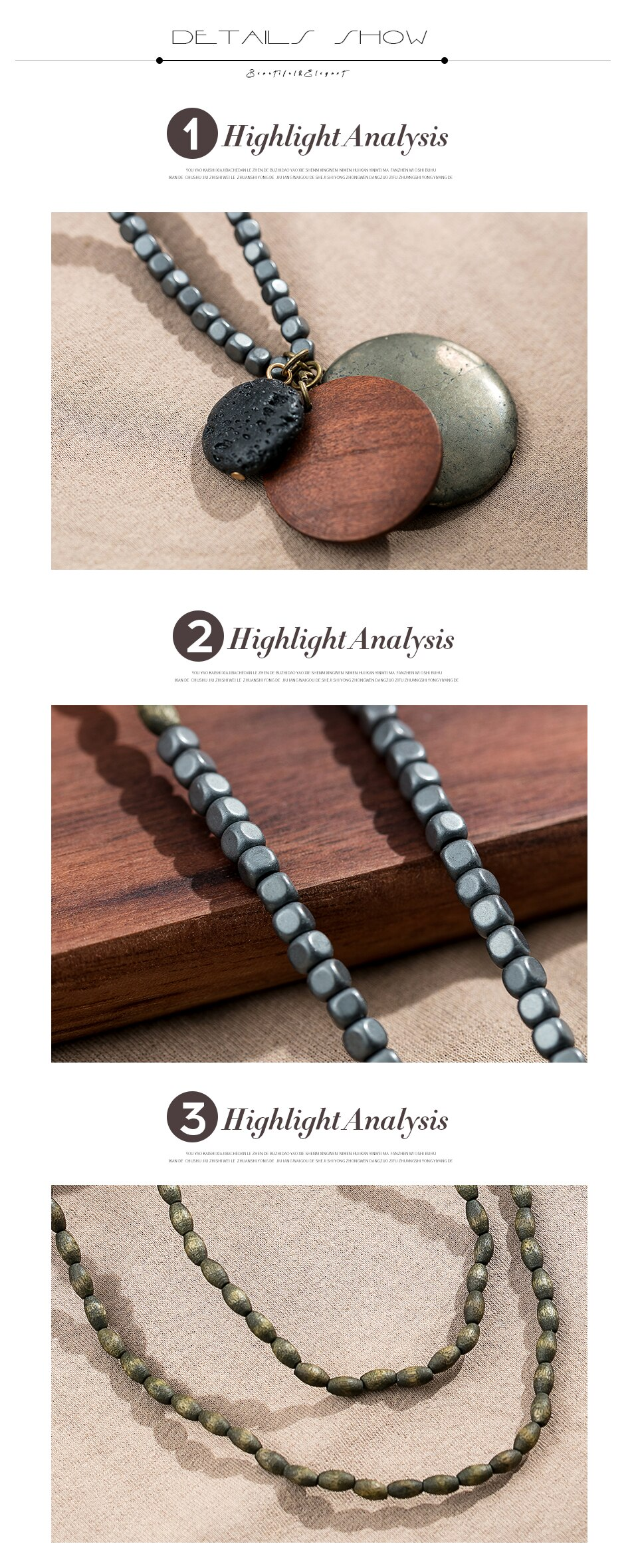Stone Beads Long Necklace for Jewelry Vintage Rope Chain Necklaces necklaces & pendants jewellery suspension Chokers 2020 New
