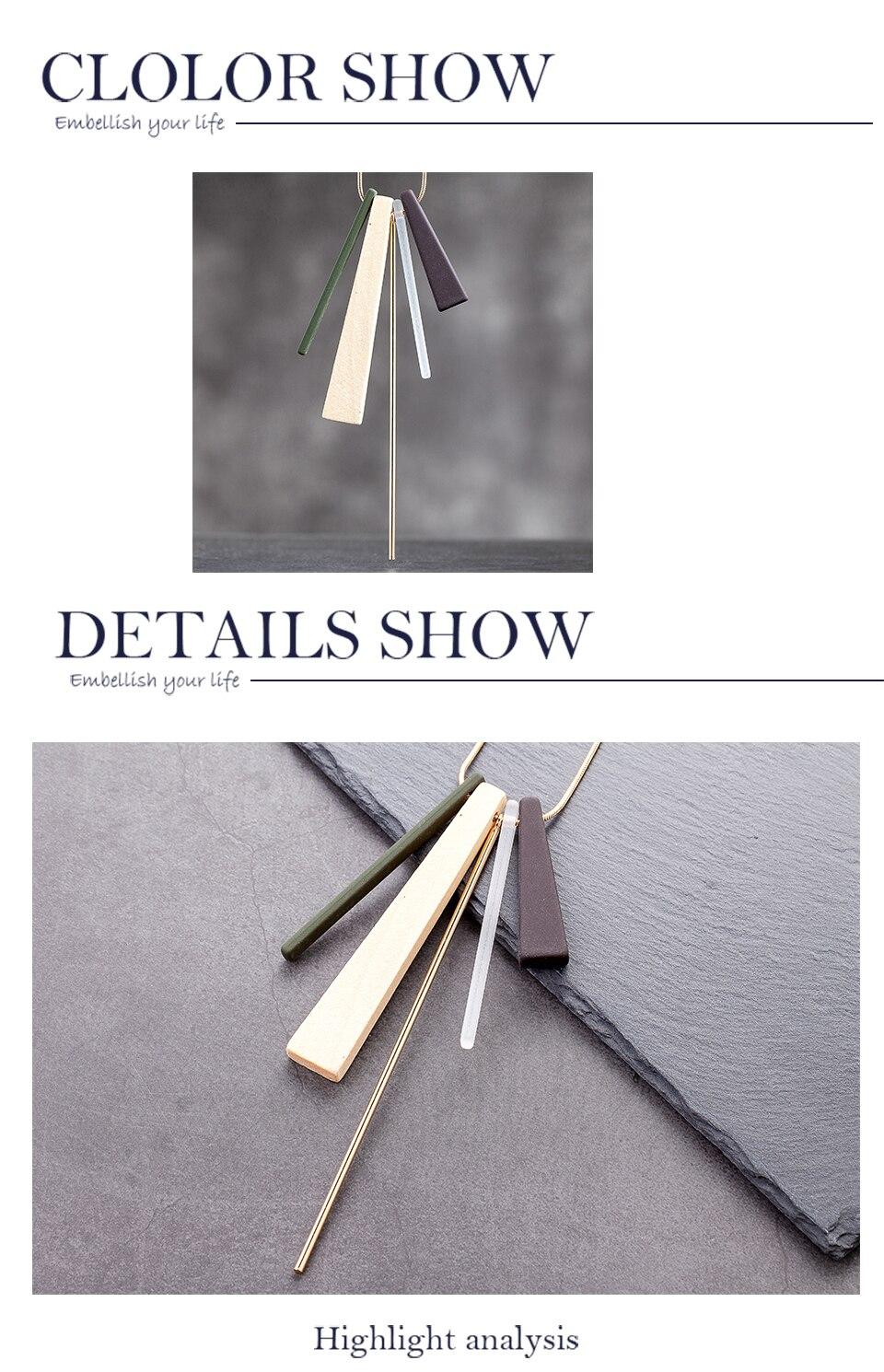 2020 Fashion Statement Long Chains Necklace Female Suspension Decoration Accessories Necklaces & Pendants Jewelry For Engagement