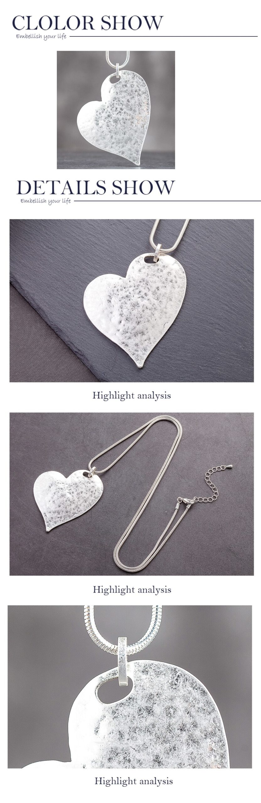 2020 Heart Suspension Accessories Bijouterie Female Pendant Jewelry on the Neck Decoration Gifts Large Necklace for Women Lovers