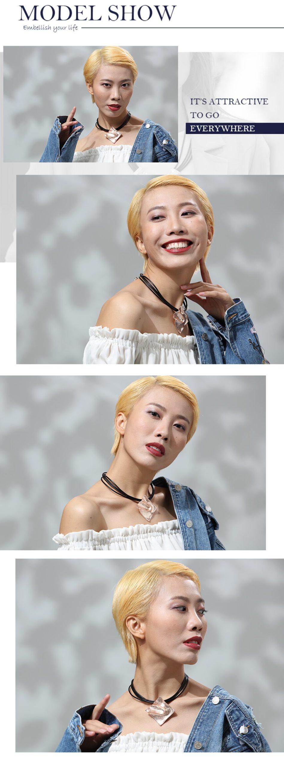 2019 Women Geometric Necklace Handmade Pendants For Friends Simple Rhombic Necklace Adjustable Collier Pendant Woman Accessories