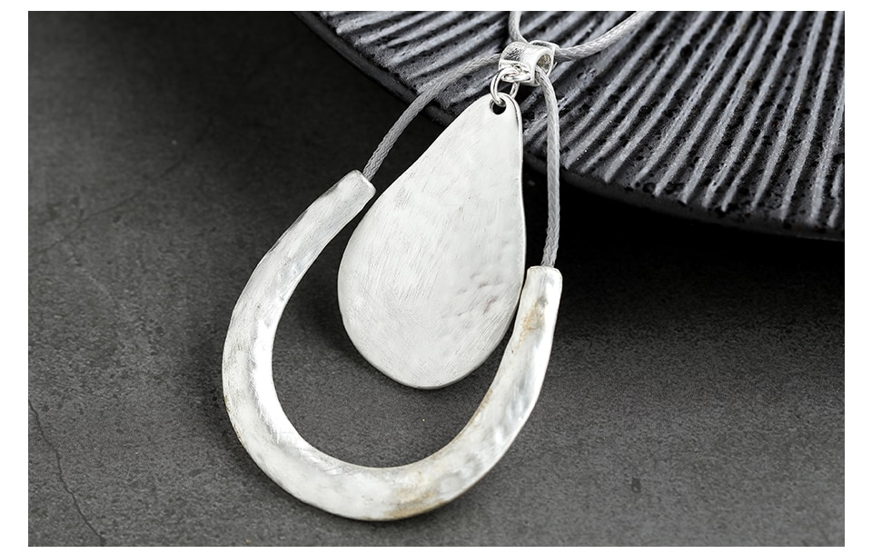 Silver Color Trendy Jewelry for Women Long Necklace Chain Chokers Necklaces & Pendants Jewellery Suspension Collar 2020 Original