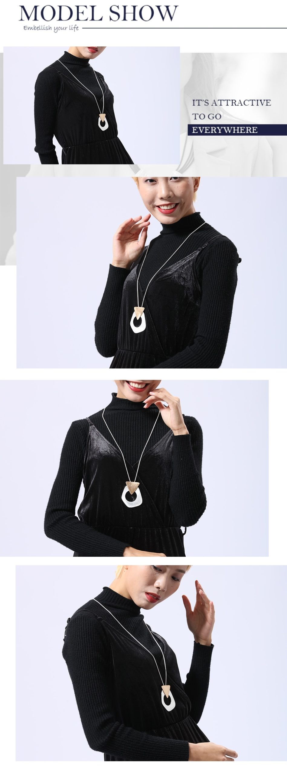 Trendy Pendants & Necklaces Link Chain Necklace Women Vintage Fashion Pendant Handmade Clothes Accessories Fashion Jewelry Gift