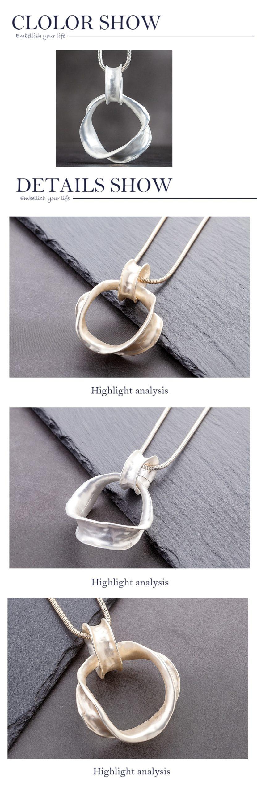 Long Necklace for Women Trendy Women's Geometry Jewelry Necklace&Pendants Chain Suspension Neck Decoration Necklaces Accessories