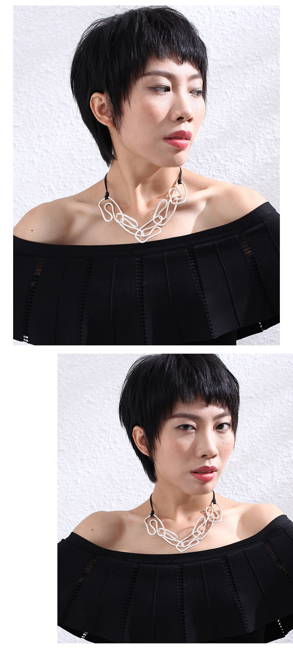 Silver Color Geometric Neck Chokers Necklace Jewelry For Women Female Suspension Decoration Pendants Accessories 2020 Wholesale