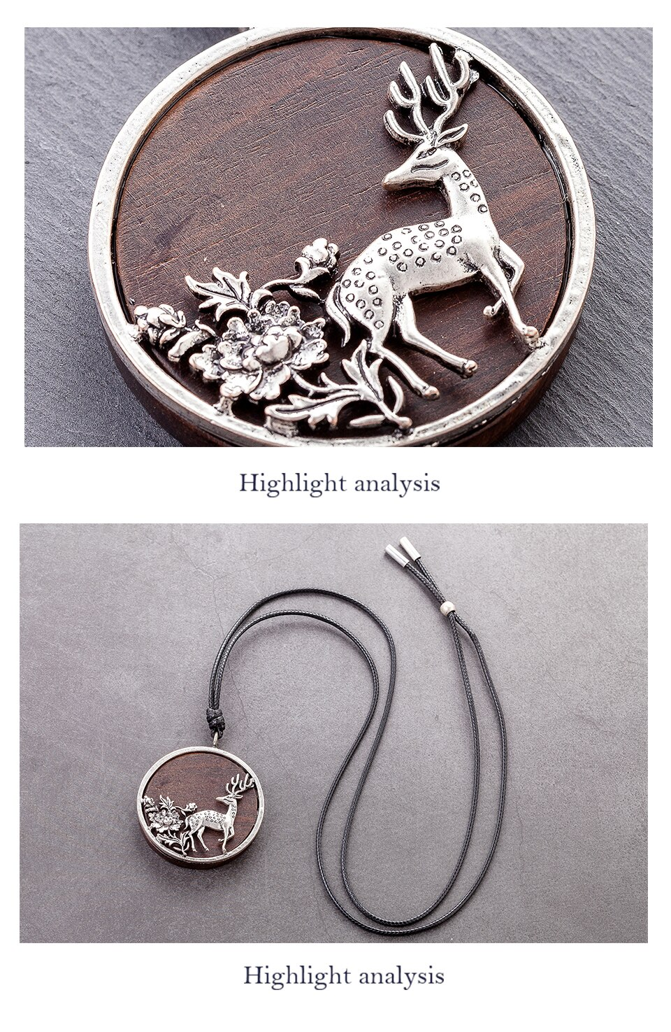 Lovely Deer Accessories Bijouterie Female Pendants Jewelry on the Neck Decoration Gifts Large Massive Necklaces for Women Lovers