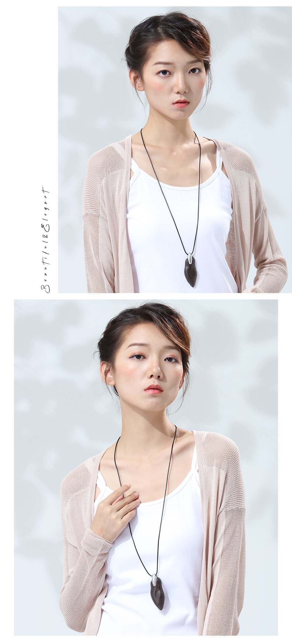 Handmade Women Pendants Necklaces Vintage Sandalwood Sweater Chain for Wooden Jewelry Unique Suspension New Fashion Female Gift