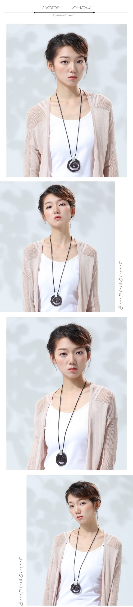 New Fashion Women Pendant Necklaces Vintage Sandalwood Sweater Chain for Wooden Handmade Jewelry Female Girl Unique Big Pendant