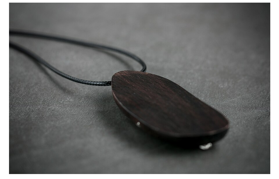 Sandalwood Handmade Women Pendant&Necklaces Rope Sweater Chain Wooden Necklace Women Fashion Jewelry Wholesale Festival Present
