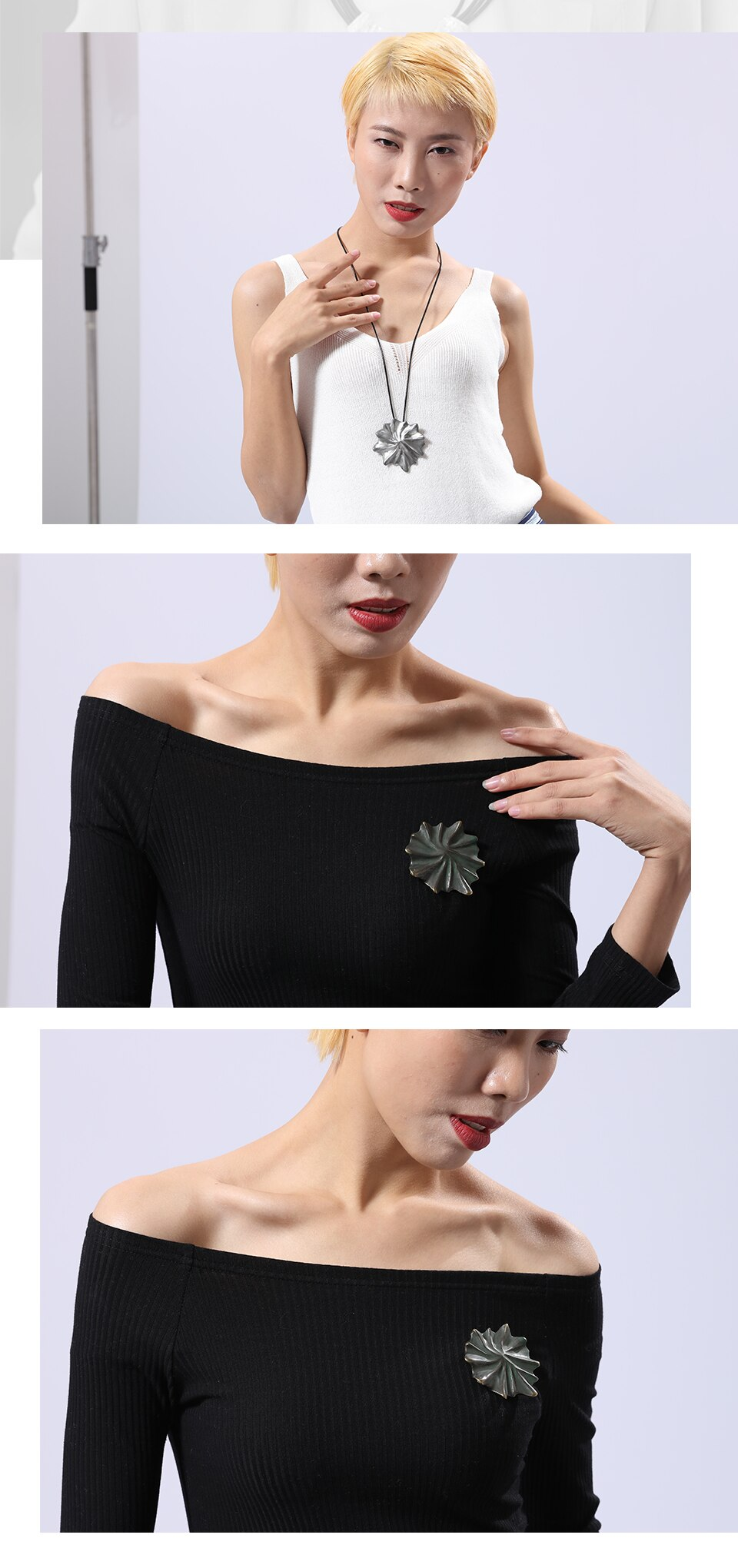 2020 Fashion Women's Pendant Necklaces Jewelry Bijouterie Neck Choker Long Chain Female Initial Suspension Decoration for Gifts