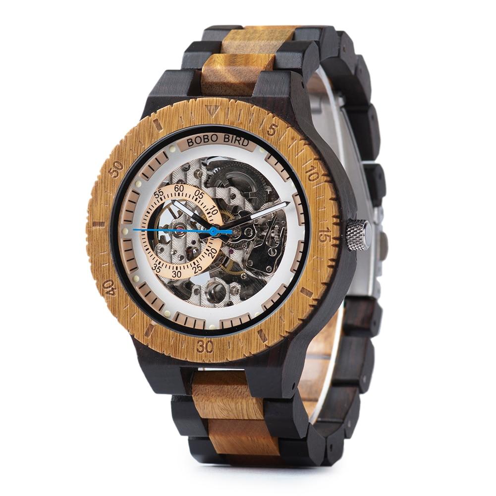 BOBO BIRD Men Watch Automatic Mechanical Wristwatches Multi-functional Wooden Watches Male relogio masculino Wood Watch Boxes