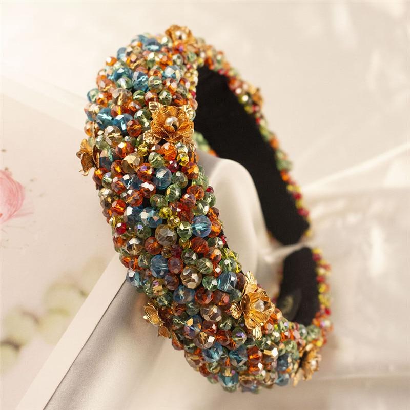 66 Styles Luxury Baroque Sparkly Rhinestones Headbands Wide Headwear Full Crystal Hairbands Hair Accessories For Girls Wholesale