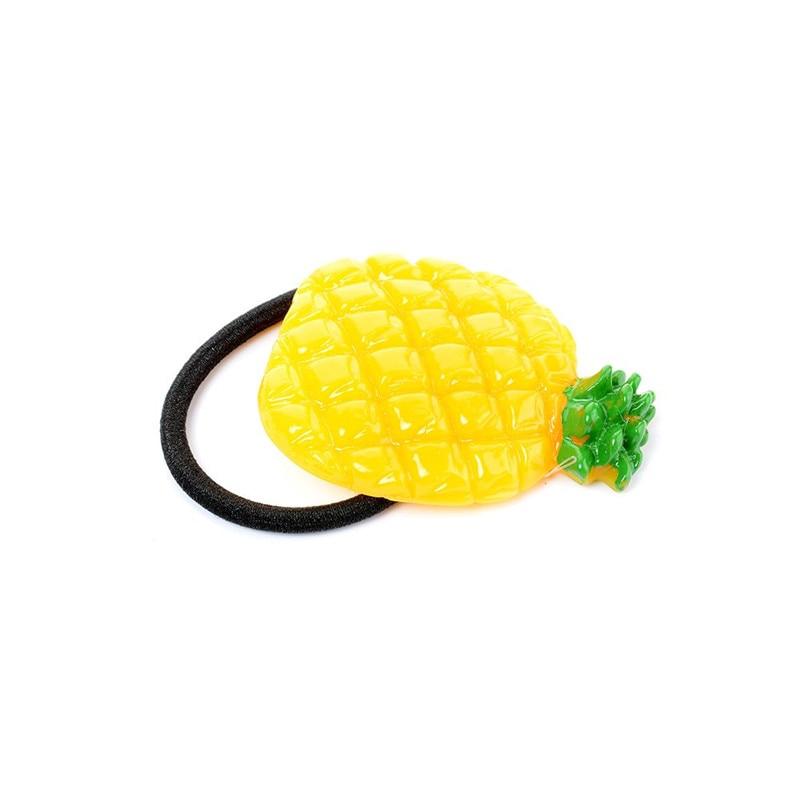 New Fashion Women Hair Circle Lovely Simulation Fruit Hairband Apple Strawberry Lemon Ponytail Holder Girls Hair Rings