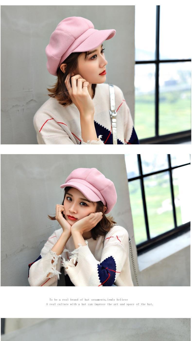 Newsboy Caps New Arrive Women Newsboy Gatsby Cap Octagonal Baker Peaked Beret Driving Hat Female Sunscreen Hats Painter Tour cap