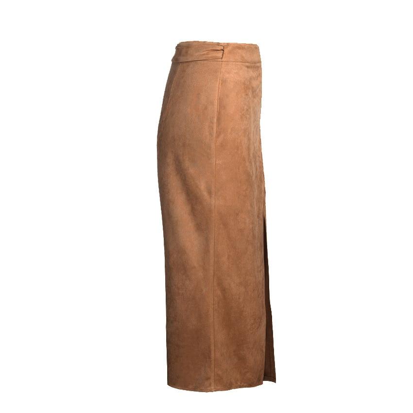 Wrap Rok Office Lady Potlood Rokken Vrouwen 2020 Herfst Hoge Taille Formele Rok Fashion Hoge Split Mid Kuit Bow elegante Rok