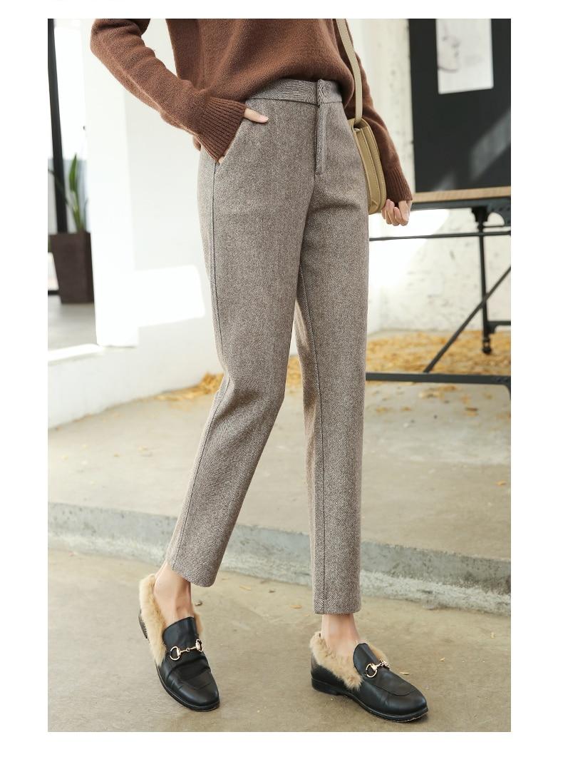2020 Nieuwe Wollen Harembroek Vrouwen Lente Herfst Fashion Casual Enkellange Broek Vrouwelijke Hoge Taille Losse Broek Plus size