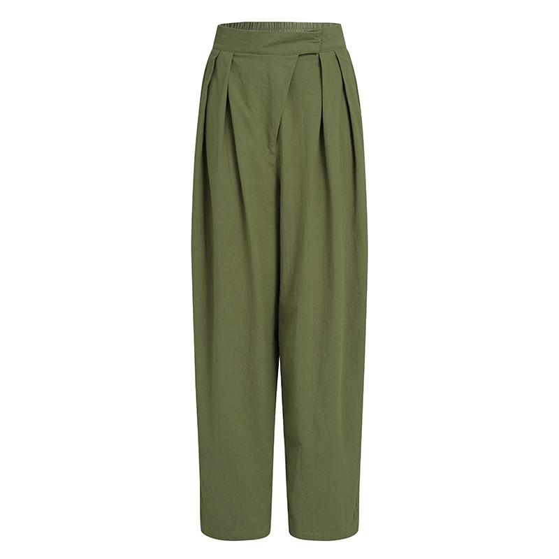 2020 Mode Harembroek Vrouwen Celmia Elastische Hoge Taille Wijde Pijpen Broek Casual Losse Solid Plisse Lange Pantalon Plus Size 7