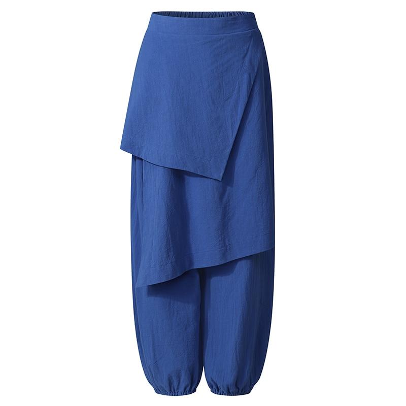 Plus Size Vrouwen Herfst Broek Zanzea Elegante Effen Harembroek Toevallige Trekkoord Lange Pantalon Vrouwelijke Elastische Taille Raap