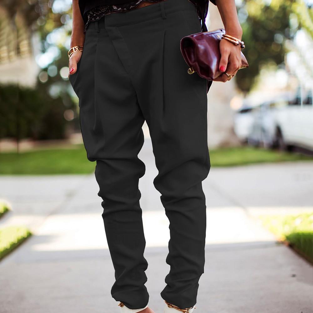 Mode Vrouwen Effen Kleur Hoge Taille Stretch Zakken Skinny Potlood Broek Stijlvolle Vrouwelijke Lange Broek Broek