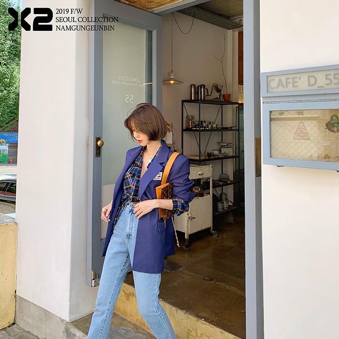 2020 Herfst Mode Vrouwen Hoge Taille Denim Jeans Rechte Jeans Side Split Jeans Vintage Vrouwelijke Lange Capri Broek