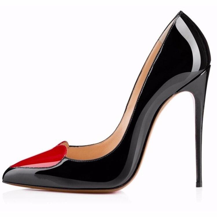 Loslandifen brand dames vrouwen pompen hoge hakken schoenen vrouw party trouwjurk OL puntschoen stiletto schoen hartvormige