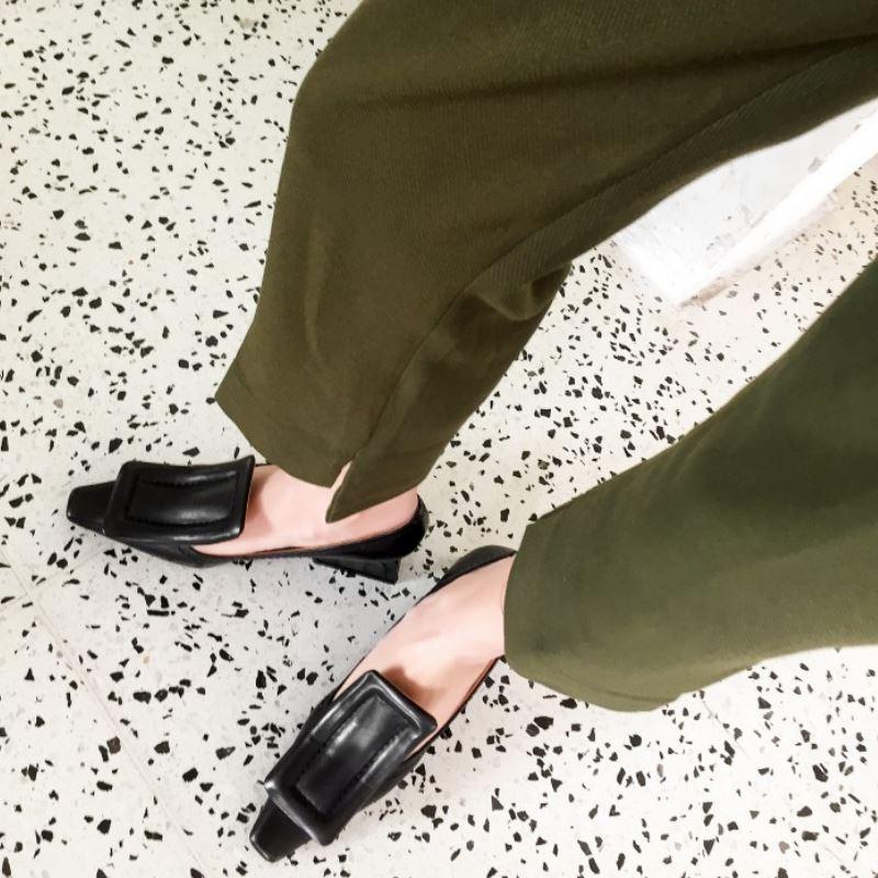 Rizabina Vrouwen Pompen Echt Leer Hoge Hakken Vrouwen Lente Mode Gesp Casual Party Designer Schoenen Maat 33-40