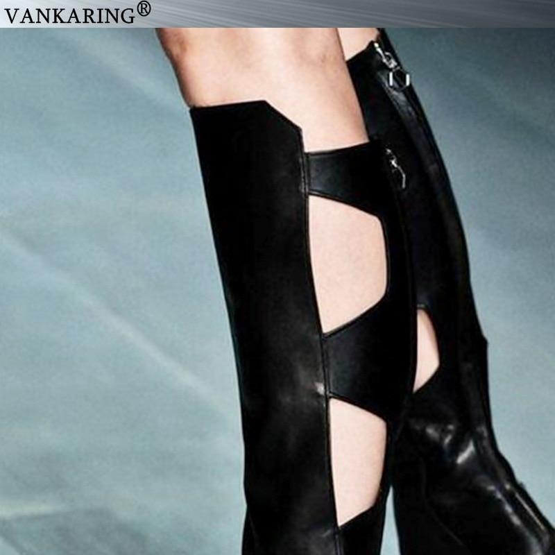 Europese pop zacht microfiber lederen knie hoge laarzen voor vrouwen sexy peep toe rijlaarzen zomer wig sandalen dames hoge hakken