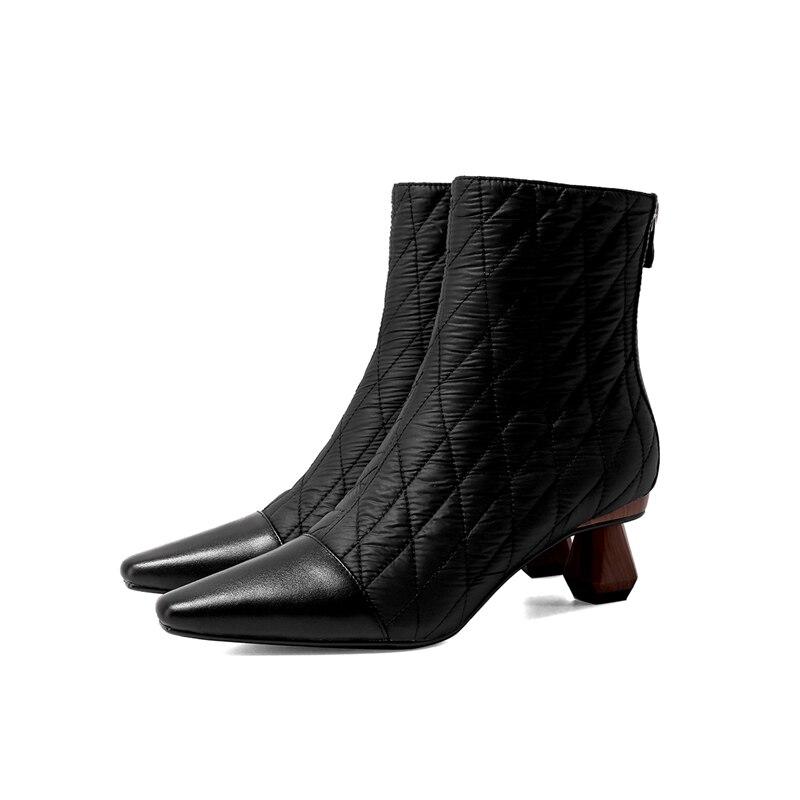 Vrouwen Laarzen 2020 Nieuwe Mode Echt Leer Snowboots Voor Winter Schoenen Vrouwen Casual Lichtgewicht Enkel Botas Mujer Winter Laarzen