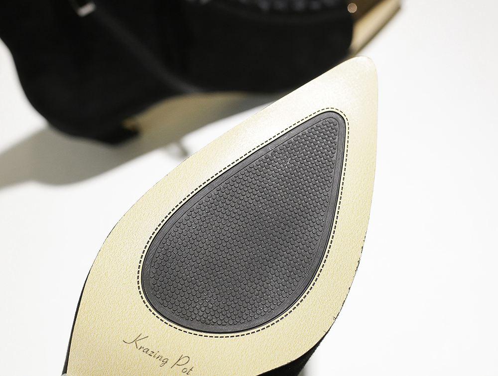 Krazing Pot 2020 Nieuwe Hot Koop Kid Suede Wees Metalen Neus Gemengde Kleur Vlinder-Knoop Med Hakken Europese Designer enkellaarsjes L25