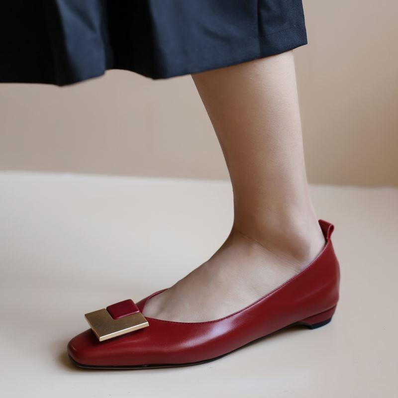 Allbitefo Echt Lederen Vrouwen Hakken Soft Koe Lederen Vrouwen Hoge Hak Schoenen Varkensleer Binnen Lage Hak Schoenen Kitten Hakken