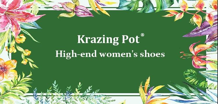 Krazing Pot Lederen Vitaliteit Maiden Metalen Decoraties Vierkante Neus Lage Hakken Vrouwen Slip Op Gezellige Dating Lente Pompen L19