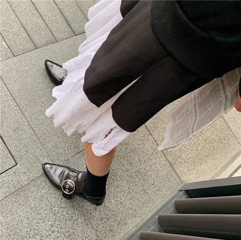 Fedonas Metalen Gesp Pompen Vrouwen Lente Herfst Echt Leer Party Basic Schoenen Vrouw Brand Design Puntschoen Ondiepe Pompen