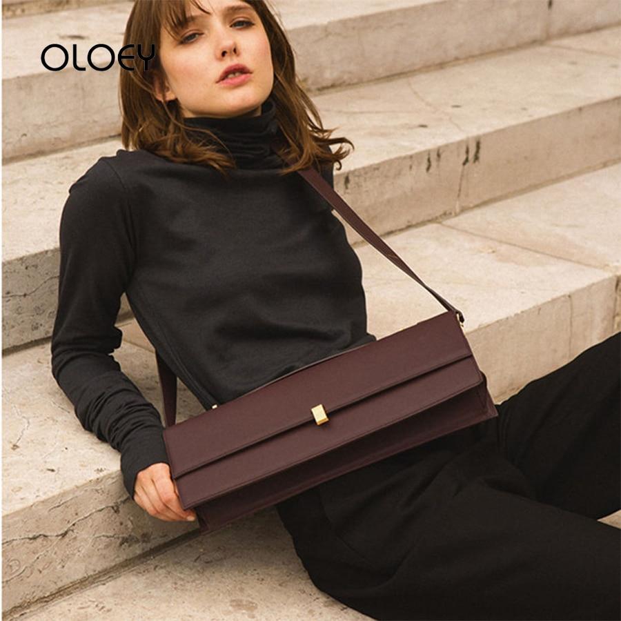 Brede Schouderriem Flap Crossbody Tassen Voor Vrouwen Rechthoekige Designer Schouder Messenger Bag Luxe Handtassen Kleine Vierkante Zakken