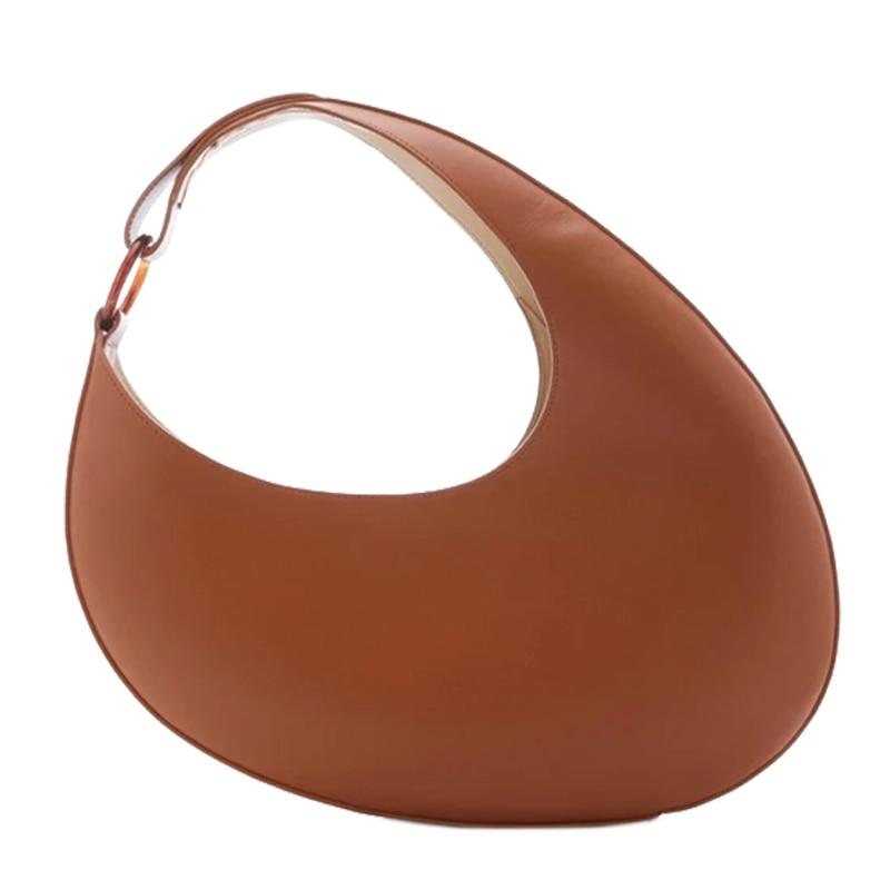 Luxe Lederen Handtassen Vrouwen Crescent Vorm Zak Persoonlijkheid Grote Capaciteit Onderarm Zak 2020 Mode Schoudertas Borsa