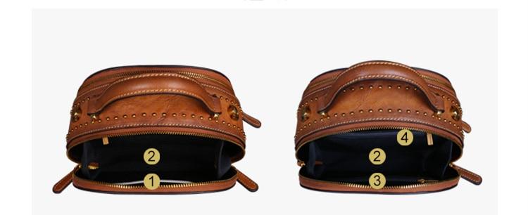 2020 Luxe Vrouwen Echt Lederen Handtassen Dames Retro Elegante Schouder Tas Koe Lederen Handgemaakte Dames Tassen