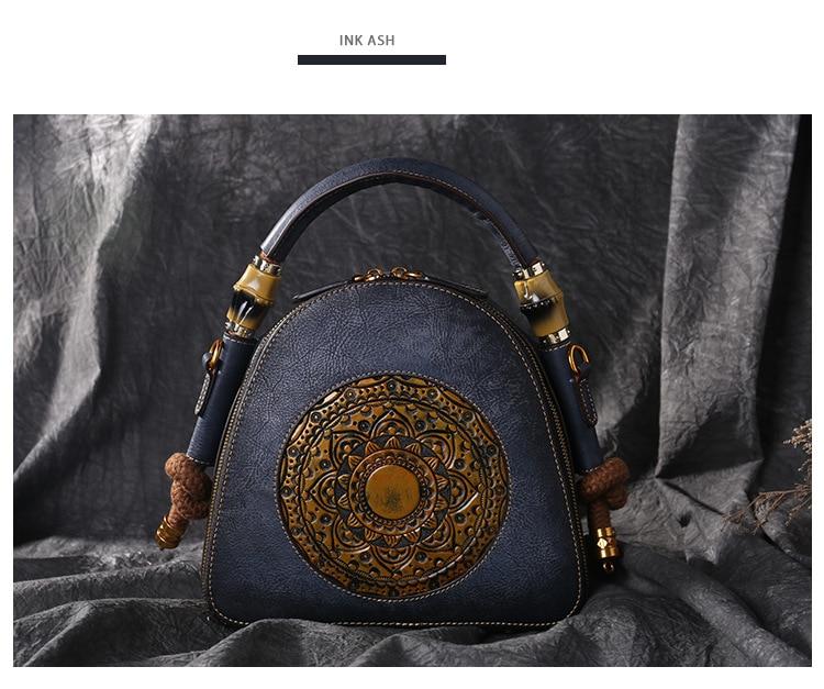 Vintage Luxe Vrouwen Echt Lederen Handtassen Dames Retro Elegante Schouder Tas Koe Lederen Handgemaakte Dames Tassen