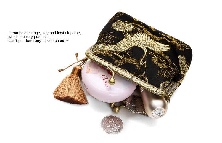 Alasir Aangepaste Originele Handgemaakte Zijden Brokaat Retro Portemonnee Kaart Tas Chinese Stijl Opslag Kleine Zakken Speciale Mini Portemonnee