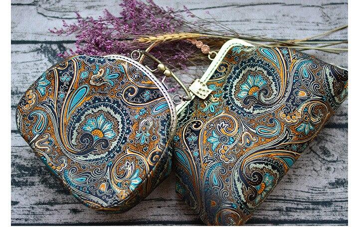 Alasir Custom Jacquard Handtas Handgemaakte Tas Oude Stijl Brokaat Vrouwen Handtassen Retro Chinese Stijl Tas