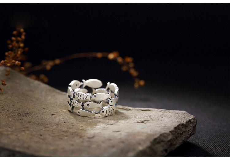 2019 Bijoux Zilveren Kleur Vis Ringen Voor Vrouwen Kerstcadeaus Verstelbare Open Ring Dames Boho Sieraden Anillos