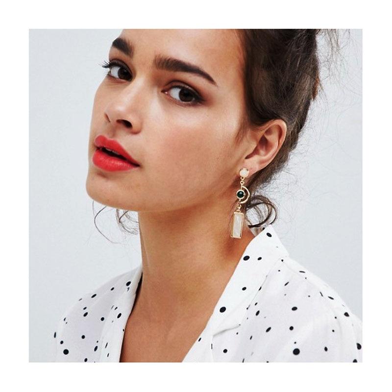 F.J4Z 2020 Trend Geometrische Oorbellen Voor Vrouwen Mode Cat Eye Acryl Steen Mix-Geëvenaard Cocktail Verklaring Oorbel Kerst