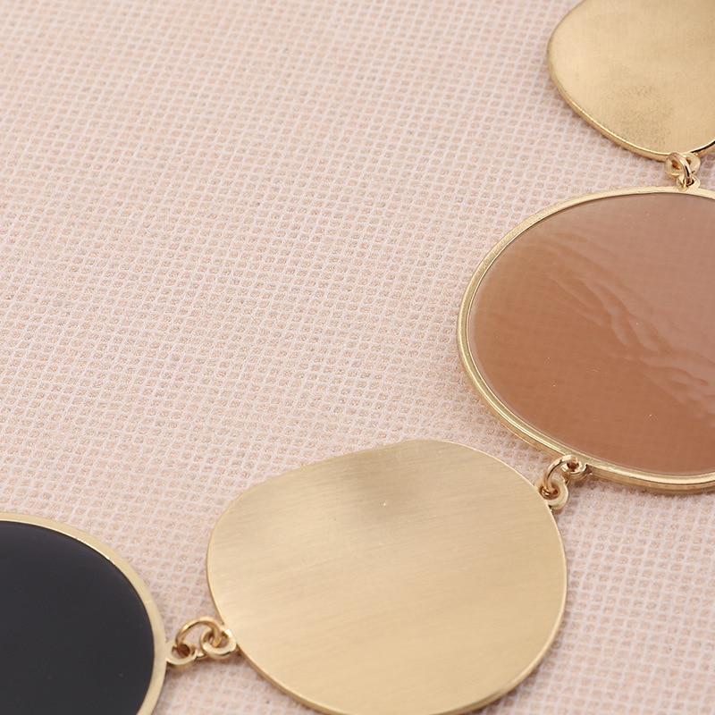 Overdreven Grote Verklaring Gold Metal Enamel Choker Ketting Voor Vrouwen Vrouwelijke Party Korte Kraag Sleutelbeen Keten Ketting Sieraden