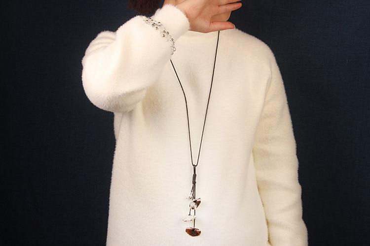 Etnische Sieraden nationale metalen hangers, fashion vintage handgemaakte lederen touw ketting