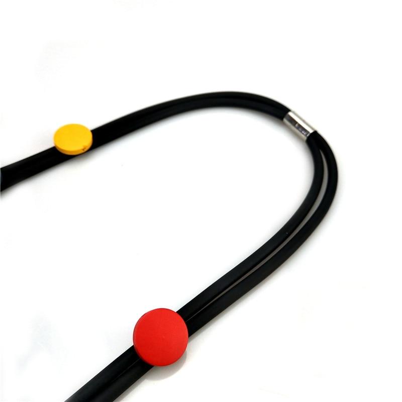 Ukebay Nieuwe Multicolor Hout Hanger Ketting Vrouwen Handgemaakte Choker Kettingen Bohemen Rubber Sieraden Accessoires Elasticiteit Chain