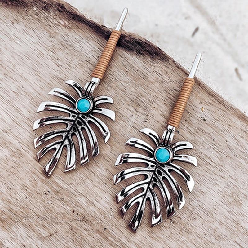 Vintage Etnische Bloem Olie Drop Dangle Oorbellen Voor Vrouwen Vrouwelijke 2019 Mooie Ornamenten Opknoping Oorbel Sieraden Accessoires O4M134