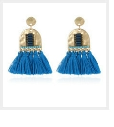 Badu Lange Garen Bloem Oorbellen Bohemian Handgemaakte Grote Kwastje Sieraden Kleurrijke Drop Earring Voor Vrouwen Mode Stof Fringe Dangle