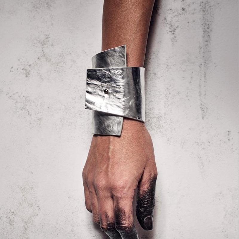 2019 Nieuwe Luxe Geometrische Lederen Armbanden Voor Vrouwen Zilver Kleur Kiezen Designer Handgemaakte Lederen Sieraden Kerstcadeau