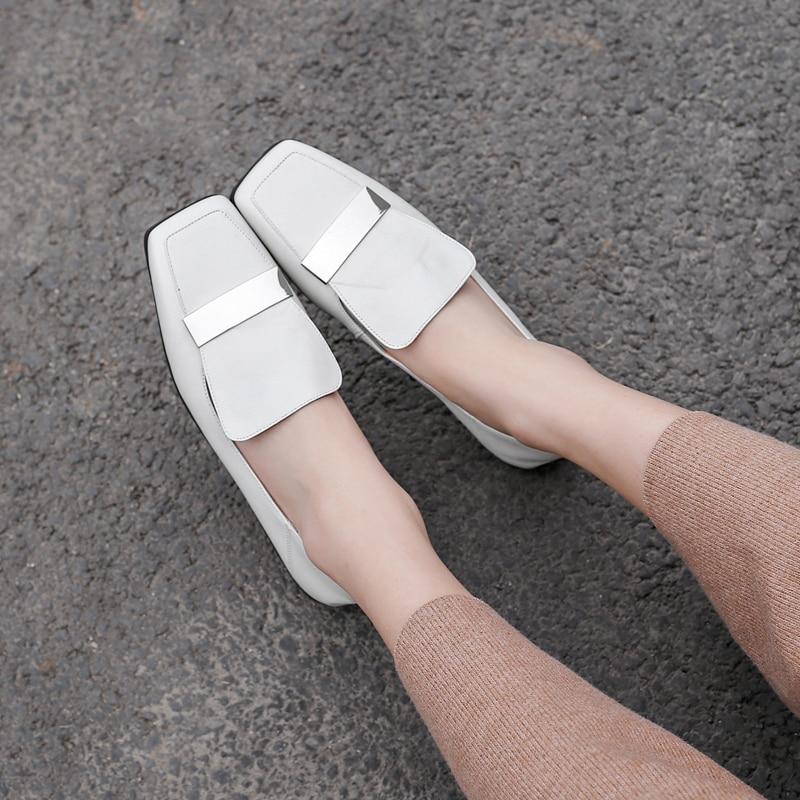 Vrouwen Echt Lederen Slip-On Ballerina Zachte Comfortabele Ballet Flats Leisure Vrouwelijke Muilezels Hoge Kwaliteit Mocassins Schoenen Vrouwen
