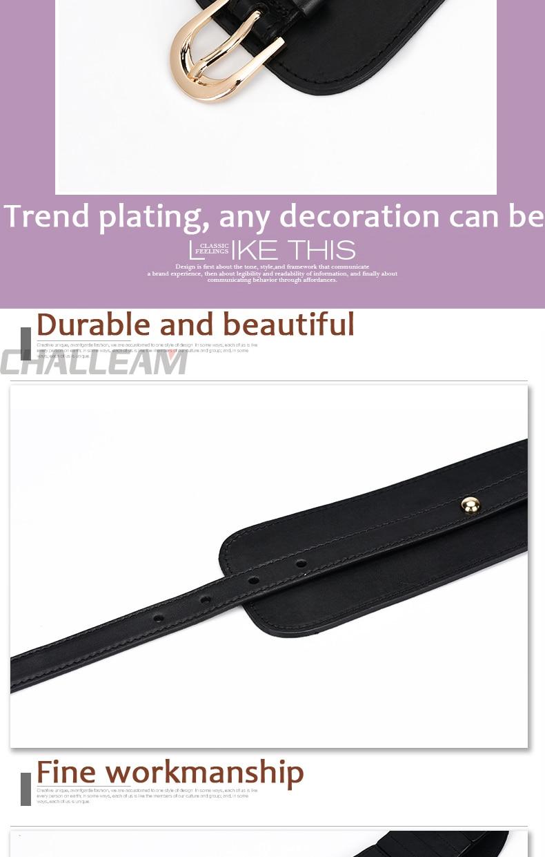 Luxe Dames Brede Riem Elastische Vintage Gesp Lederen Wide Mode Wilde Pin Gesp Vrouwen Riem Taille Afdichting Riem X208