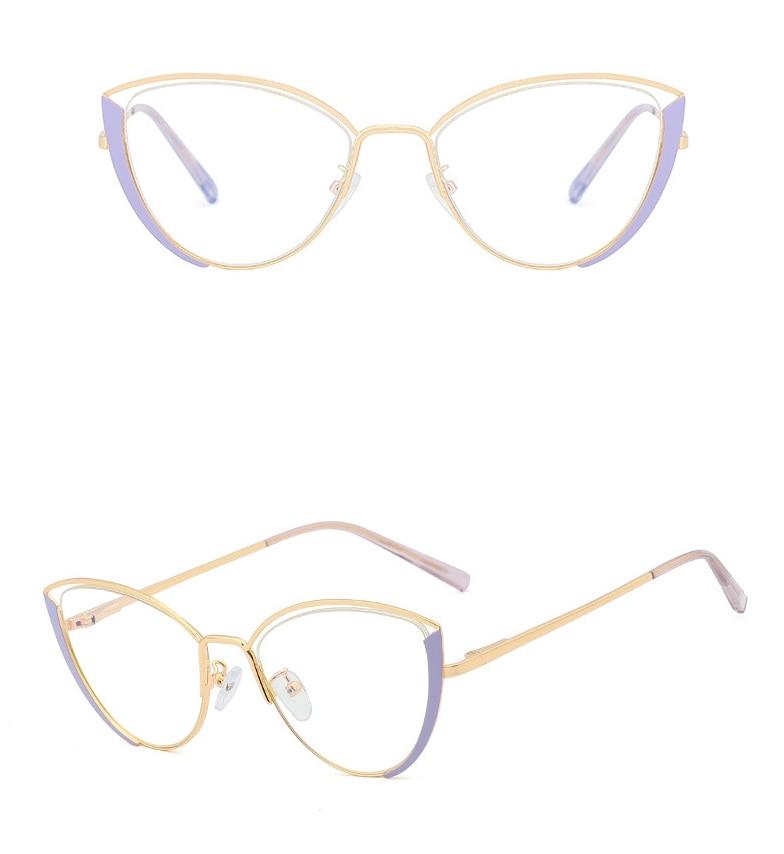 48222 Anti-Blauw Licht Cat Eye Ultralight Metalen Frames Mannen Vrouwen Optische Mode Computer Bril