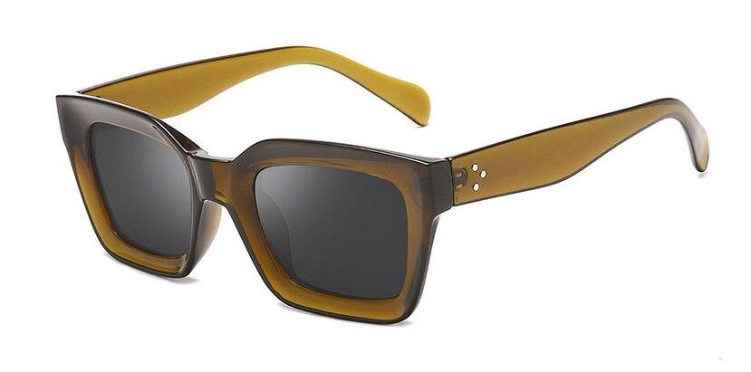 46849 Retro Vierkante Cat Eye Zonnebril Mannen Vrouwen Fashion Shades UV400 Vintage Bril