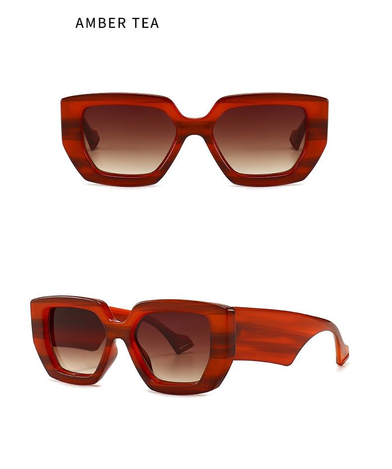2020 Vintage Mode Vierkante Zonnebril Vrouwen Mannen Beroemde Luxe Merk Designer Big Frame Gradiënt Zonnebril Voor Vrouwelijke UV400
